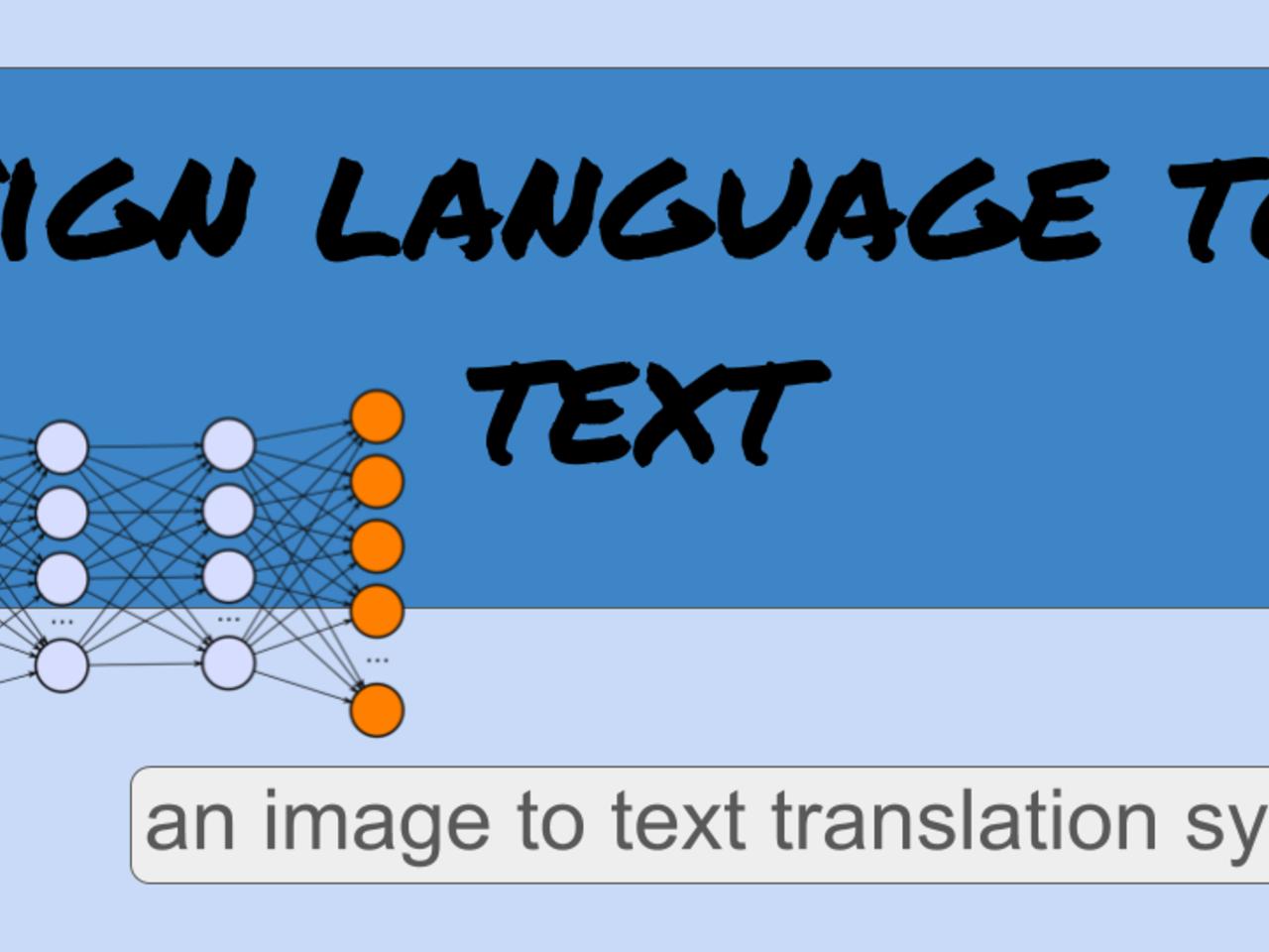 Sign language text translation