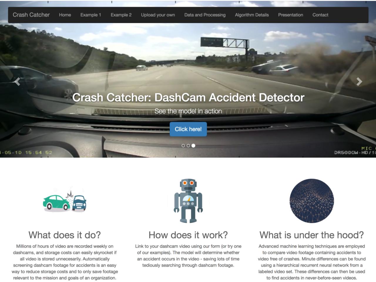Crash Catcher: Detecting Car Crashes in Video