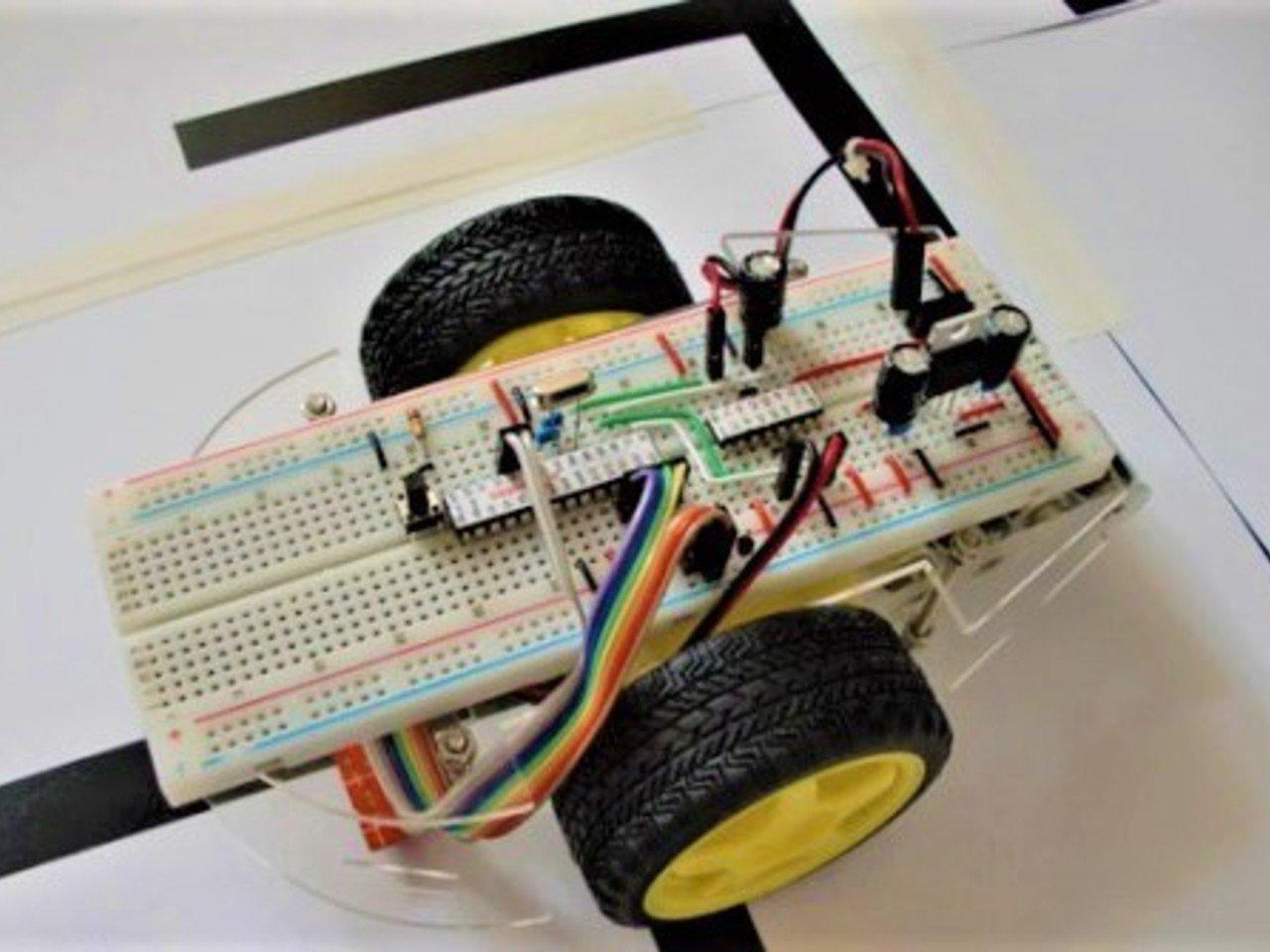 Line following Autonomous Maze Solving Robot.