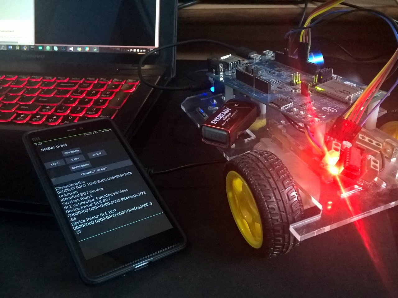 BLE controlled BOT
