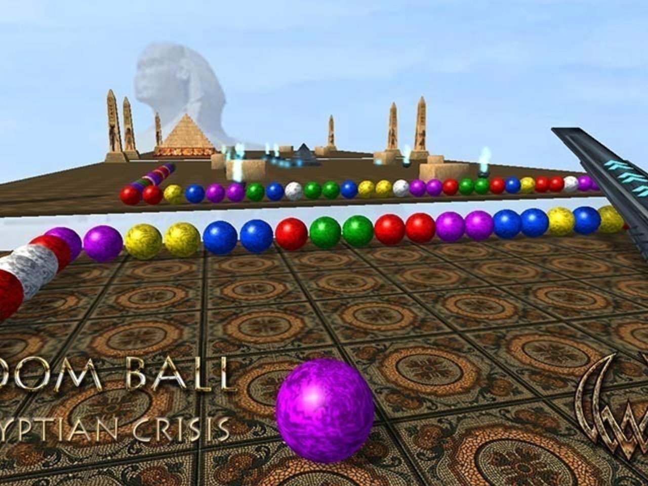 Boom Ball Egyptian crisis 3D puzzle match 3