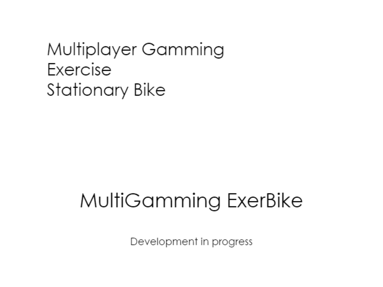 Multiplayer Gamming Exercise Stationary Bike
