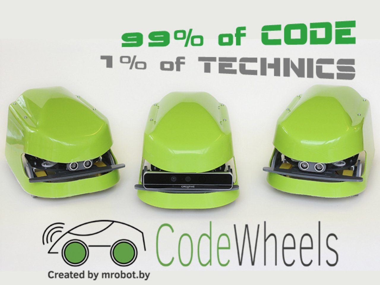 CodeWheels – Real code, real robot racing powered by Intel Curie!