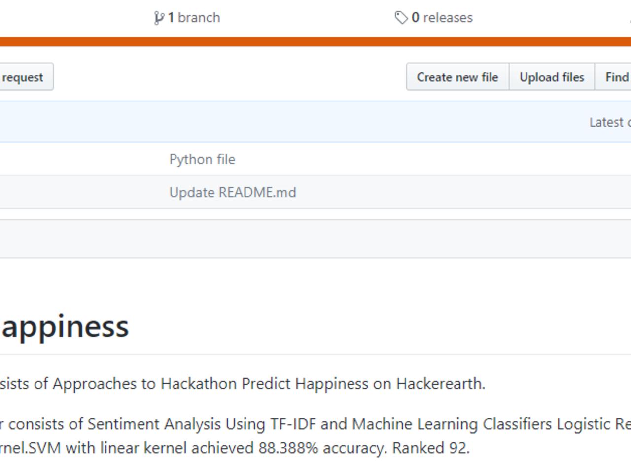 Predict Happiness Hackathon Challenge