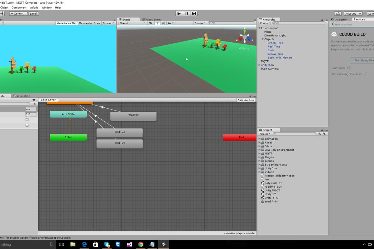 Unity VR/AR IoT integration