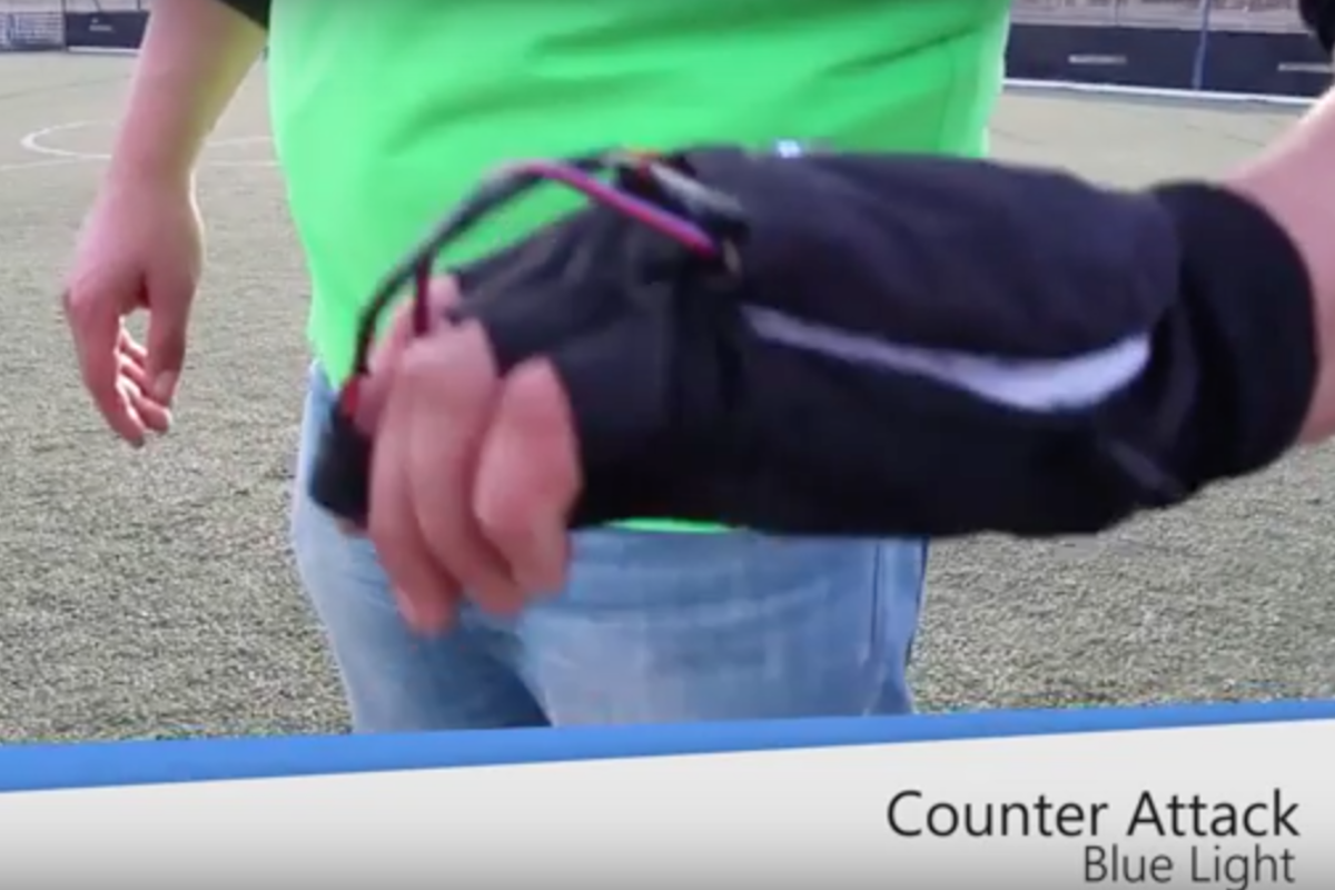 Remote controlled signals for soccer players