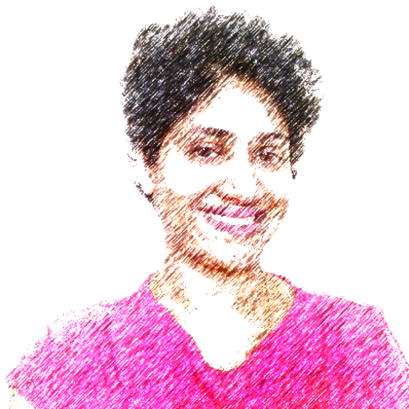 Bigger color line sketch of ambika light background