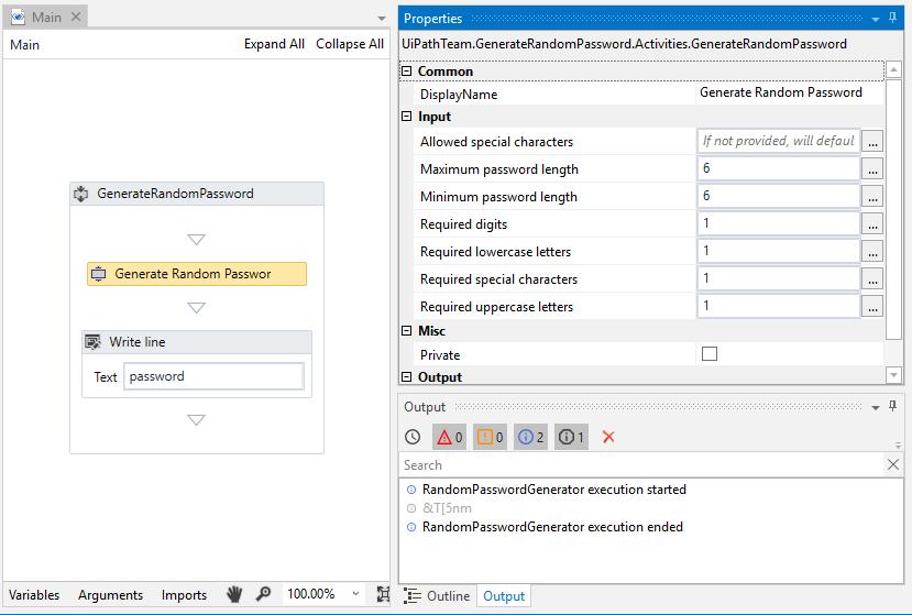 Generate Random Password | UiPath Go!