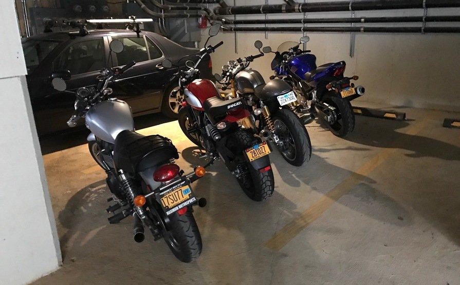 Motorcycle Indoor Parking space for Rent 24/7