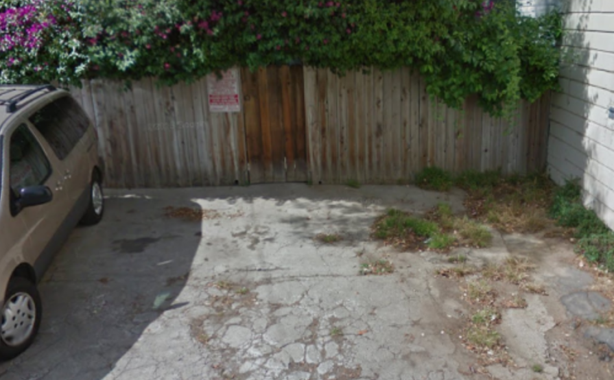 Parking space available in back of house
