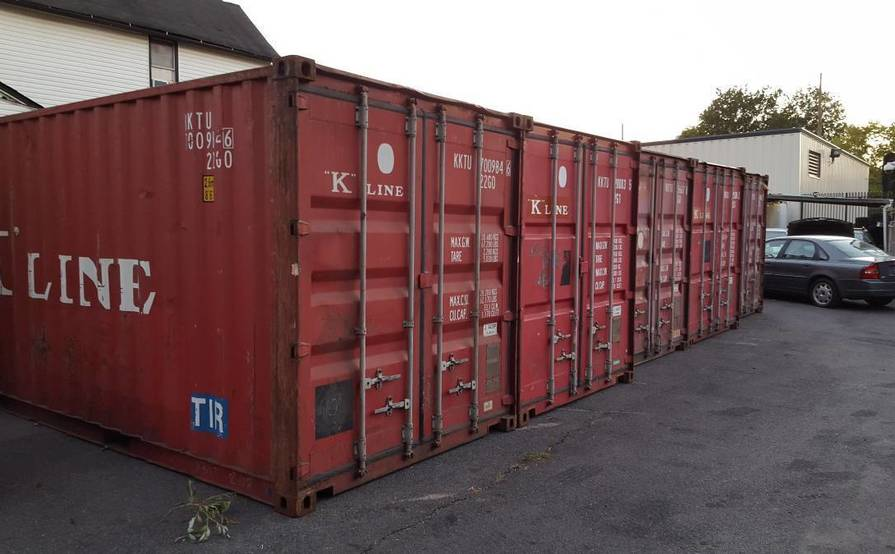 20ft storage container for rent on secure lot
