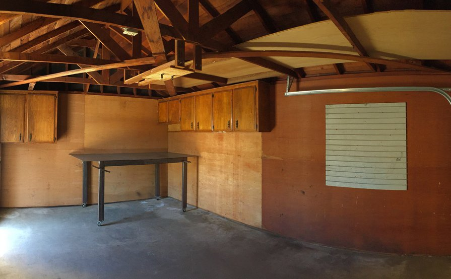 Detached Oversized Single Car Garage with Extra Storage Space