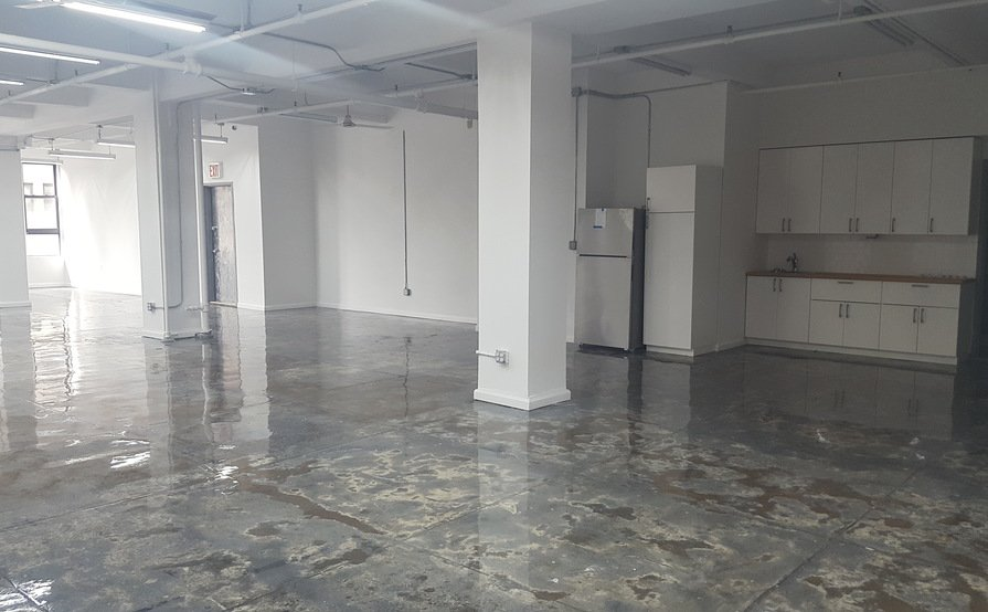 Brand new lofty office space available for annual rental.  Close to Penn Station, Port Authority, Lincoln Tunnel