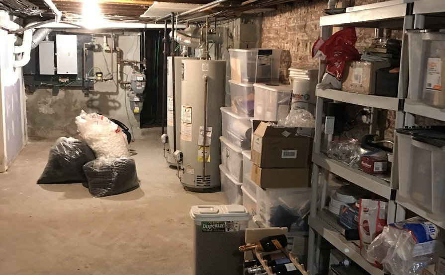 STORAGE AVAILABLE IN NEAT, CLEAN BASEMENT