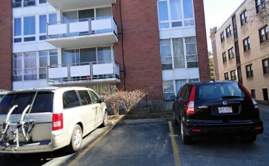 Secure parking spot in Brookline