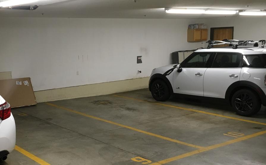 Parking spot in shared secure garage