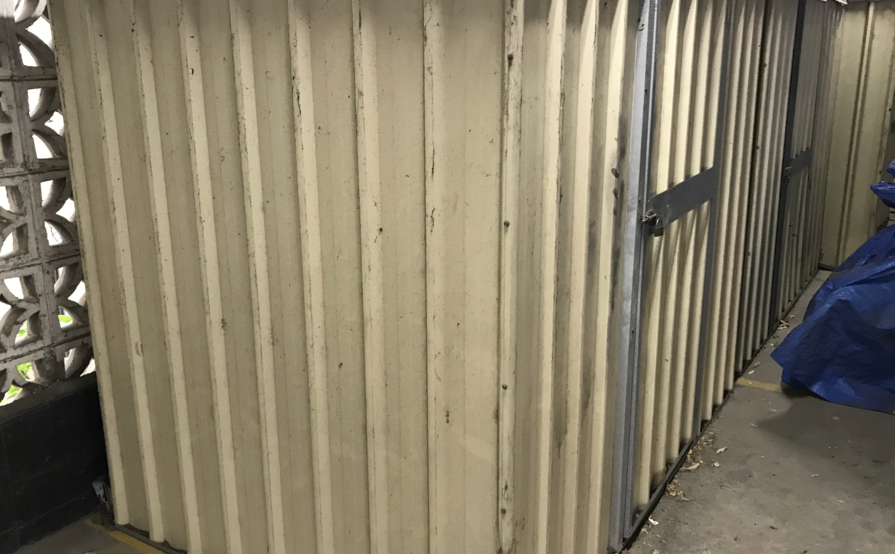 Storage Cage for Rent in Secure Garage