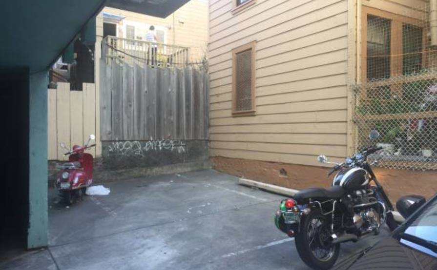 Nice and gated for Motorcycle parking in Nob Hill