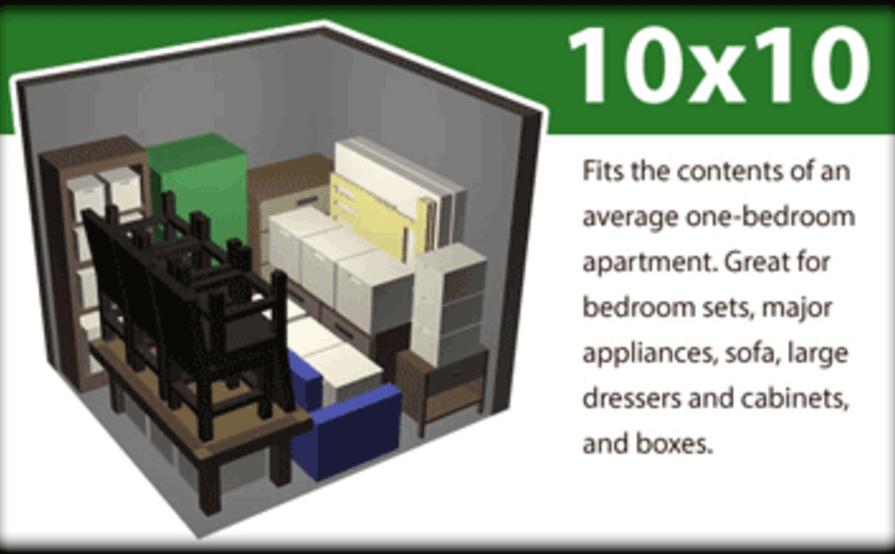 Merveilleux 10x10 Storage Space